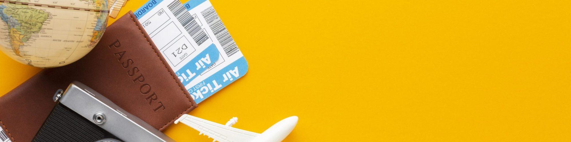 flat-lay-tickets-camera-arrangement